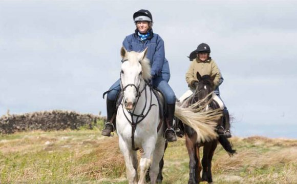 Horse riding in the Cheviot