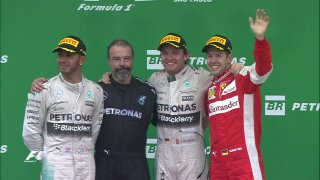 VIdeo: Podium interviews at Interlagos